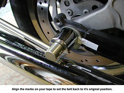 Align the belt tension marks